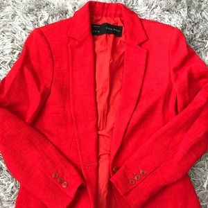 Zara Tweed Blazer-Red-Size M